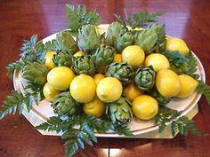 Limones y alcachofas