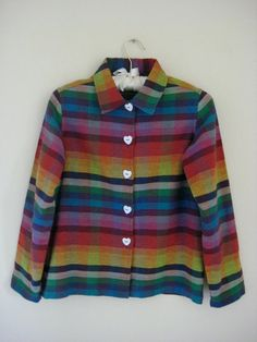 vintage rainbow jacket, stylebook vintage (etsy)