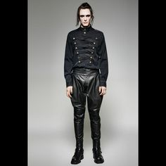 K-262 Gothic Black Sexy Loose Harem Faux Leather Pants Gothic Pants, Faux Leather Pants, Dark Fashion, Sexy, Black, Style, Swag, Black People, Outfits