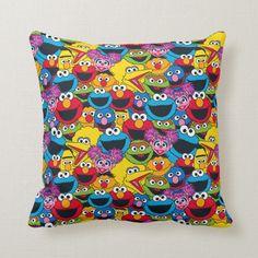 Shop Sesame Street Crew Pattern Lumbar Pillow created by SesameStreet. Elmo Cookies, Sesame Street Birthday, Diy Centerpieces, Big Bird, Cute Pattern, Custom Pillows, Cool Patterns, Lumbar Pillow, Decorative Items