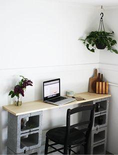 DIY Cinder Block Table
