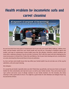 Health problem by incomplete #sofa and #carpet #cleaning