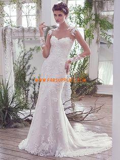 elegant spets brud bröllopsklänningar