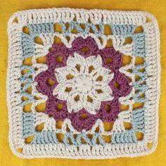 Free Crochet Pattern: Floral Kaleidoscope Afghan Square | Gleeful Things