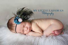 Peacock Feather  Headband  Newborn thru  by SouthernBabyDesign, $19.99
