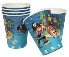 6 gobelets Pirate DYNASTRIB Des gobelets 25cl ou un encart est prévu pour écrire son nom