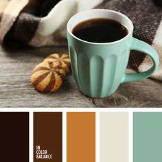 бежевый, белый и темно-коричневый, коричневый и изумрудный, кофейный, кофейный цвет, мятный цвет, оттенки коричневого, пастельный мятный, подбор цвета для гостиной, подбор цвета для дизайнера, цвет кофе, цвет шоколада, шоколадный.