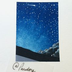 #instadaily #instacool #instagood #illustration #pandore #byme #aquarelle #stars #shootingstar #watercolor #drawing #practice #playing #inspiration #artofinsta #artofdrawing #artofinstagram #ilovedrawing #posca #poscawhite #landscape #peaceofmind #peaceofspace #miniature #littledrawing #peaceful #lovetodraw #lovepainting #lesmondesmerveilleux