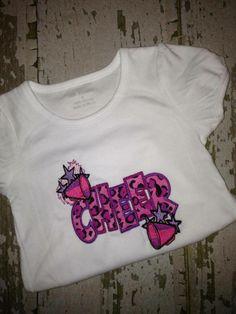 Cheer Applique Shirt for Cheerleaders