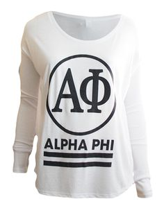 Alpha Phi Circle Long Sleeve by Adam Block Design | Custom Greek Apparel & Sorority Clothes | www.adamblockdesign.com
