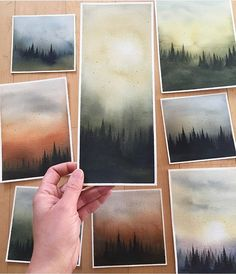 Watercolor by Bianca Rosen 🎨 . Watercolor by Bianca Ro Watercolor Artwork, Watercolor Landscape, Watercolor Illustration, Landscape Art, Watercolor Sketchbook, Watercolor Artists, Drawn Art, Arte Sketchbook, Guache