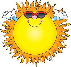 Image result for summer sun clip art free