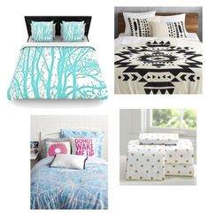 """""""Cut Bedding! """" by animallover-ii on Polyvore featuring interior, interiors, interior design, home, home decor, interior decorating, PBteen, CB2 and Keeco"""