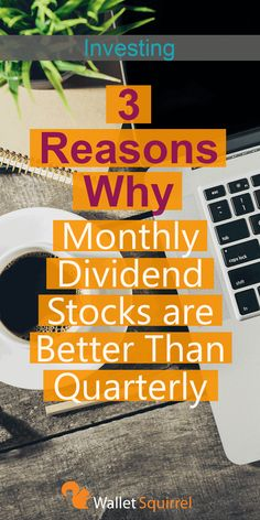 Starting to get into dividend investing? Here are 3 reasons you should be looking at monthly dividend stocks rather than quarterly. Earn some extra passive income through dividend investing. by Read Stock Market Investing, Investing In Stocks, Investing Money, Stocks To Invest In, Financial Success, Financial Literacy, Financial Peace, Financial Planning, Investment Tips