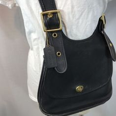13b157d144e VTG COACH Berkeley Crescent Saddle Leather Crossbody-Shoulder Bag-Purse USA  9718   eBay