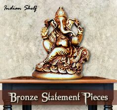 Statement pieces #bronze #ganesha #statue To view our collection visit us at https://www.indianshelf.com