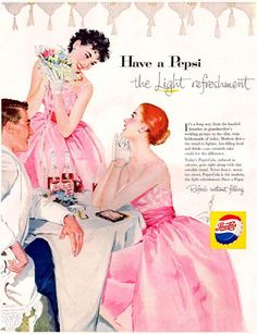 Pepsi-Cola Pink Evening Dress Girls 1957