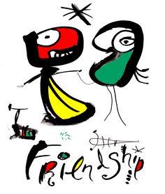Friendship By Brian Grimwood Contemporary ArtFriendship