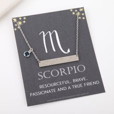 Scorpio necklace silver Scorpio constellation necklace Scorpio zodiac Scorpio jewelry Scorpio gifts best friend birthday by StatementMadeUK Capricorn Constellation, Constellation Necklace, Constellation Tattoos, Hanging Tree, Zodiac Signs Astrology, Pisces Zodiac, Horoscope, Pisces Sign, Astrology Chart