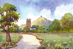 Glastonbury by Pamelajonesartstudio