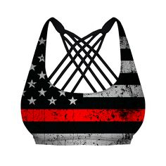 http://Thin Red Line Vitality Sports Bra (Firefighter Edition)- PRE-ORDER
