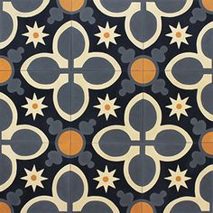 Traditional spanish ceramic tiles in yellow, white and blue Tile Art, Mosaic Tiles, Cement Tiles, Tiling, Wall Tiles, Foyer Flooring, Floor Texture, Cement Crafts, Diy Carpet