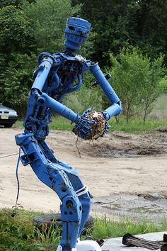 Scrap Auto Parts Statue #Sculpture #Scrap #Metal #Recycled #Steampunk  Get your…