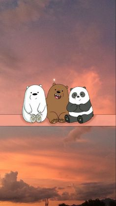 thats a cute wallpaper for We Bare Bears Cute Panda Wallpaper, Cartoon Wallpaper Iphone, Disney Phone Wallpaper, Bear Wallpaper, Kawaii Wallpaper, Cute Wallpaper Backgrounds, Pretty Wallpapers, Galaxy Wallpaper, Aesthetic Iphone Wallpaper