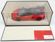 MR-MODELS LAMBO010PIR-B Scala 1/18  LAMBORGHINI AVENTADOR LP700-4 ROADSTER PIRELLI EDITION 2013 ROSSO MARS NERO NEMESIS - RED MATT BLACK