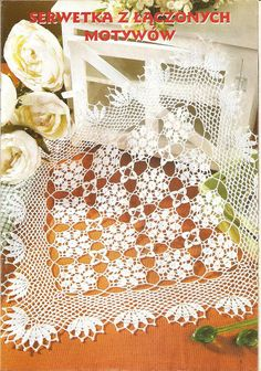 Crochet Knitting Handicraft: napkins new 1
