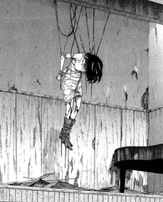 Spin yourself a web, a web Spin yourself a web and then become the fly Spin yourself a web, a web Spin yourself a web Life will be the spider and you- the fly Dark Anime, Manga Gore, Anime Manga, Anime Art, Ero Guro, Arte Obscura, Sang, Creepy Art, Monochrom