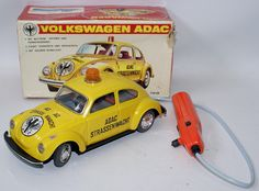 Vintage Battery Op Remote Control ADAC Straßenwacht VW Volkswagen, Taiyo Japan