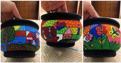 Vaso família! Sua família no vaso! #artesanato #vasodeplanta #vasodebarro #pintura #flor #coraçao #vasospersonalizados #vasoscarinhas #acrilex #familia