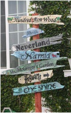 whimsical signpost