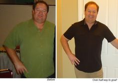 """DAVID - Dropped 11lbs in the first week! At 2 mos, lost total of 30 lbs. """"Feeling better than I have in a long time."""""""