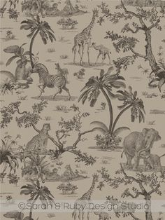 Safari Toile  wallpaper