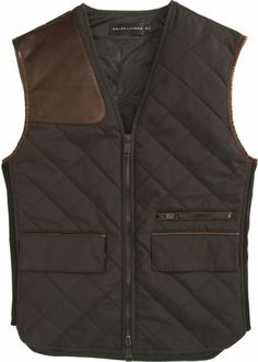 """This is closest to """"The Governors"""" vest in The Walking Dead I can find.- Ralph Lauren Black Label Quilted Zip Vest in Brown for Men Dope Fashion, Mens Fashion, Chaleco Casual, Vest Jacket, Leather Jacket, Hunting Clothes, Hunting Jackets, Revival Clothing, Ralph Lauren Black Label"""
