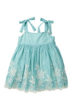 Petit Confection Blue Embroidered Eyelet Dress on HauteLook