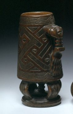 Africa | Palm wine cup from the Kuba people of DR Congo | Wood | Late 19th to early 20th century