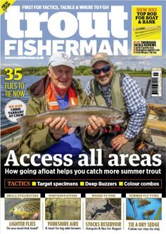 In this issue of Trout Fisherman: 35 Flies to Tie Now! New Top Rod for Boat & Bank We join Chris Tarrant at Chew Tactics Insdie this issue of Trout Fisherman: Access all areas to help you catch more summer trout Golf Magazine, Sports Magazine, Magazine Online, Sea Angling, Fishing Magazines, Bar Stock, Fly Reels, Fishing Techniques, Types Of Fish