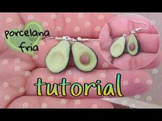 Aretes aguacates PORCELANA FRIA /cold porcelain avocado♥ - YouTube