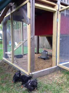 Kid's playset turned into a chicken coop!!