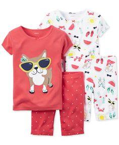 Toddler Baby Boys Bodysuit Short-Sleeve Onesie Pug Wearing Glasses Print Outfit Spring Pajamas