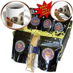 Sandy Mertens Animals  Ferret Eating Cupcake  Coffee Gift Baskets  Coffee Gift Basket cgb_17288_1 ** Click the image to find out more