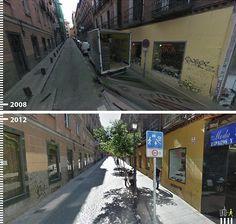 Antes/Depois: 30 fotos que mostram que é possível projetar para os pedestres,Calle Marqués de Leganés, Madri, Espanha. Cortesia de Urb-I