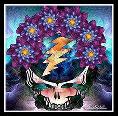 Grateful Dead Image, Grateful Dead Poster, Forever Grateful, Best Part Of Me, Cool Bands, Zentangle, Cool Art, Skulls, Gal Gardot
