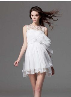 Morpheus Boutique  - White See Through Hollow Out Layer Hem Round Neck Dress, CA$143.57 (http://www.morpheusboutique.com/white-see-through-hollow-out-layer-hem-round-neck-dress/)
