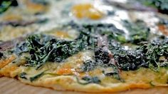 Spinach and taleggio pizza