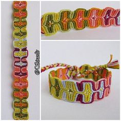 Sleeping Tikis Bracelet - macrame photo and video tutorial