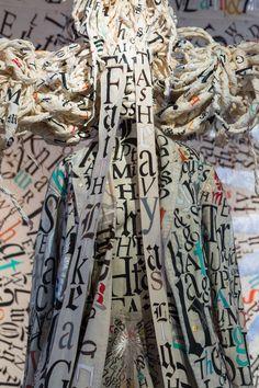 """""""Big Gal Faith"""" part of Lesley Dill: Faith & the Devil"""" exhibition"""